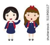school girls   Shutterstock .eps vector #511900117