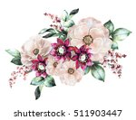 watercolor flowers. floral... | Shutterstock . vector #511903447
