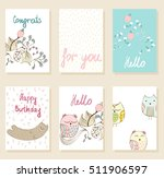 collection of cute artistic... | Shutterstock .eps vector #511906597