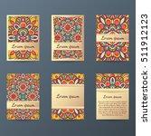 set of flyers  brochures ... | Shutterstock .eps vector #511912123