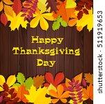 happy thanksgiving day banner....   Shutterstock .eps vector #511919653