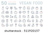 set vector line icons in flat... | Shutterstock .eps vector #511920157