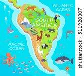 south america mainland cartoon... | Shutterstock .eps vector #511920307