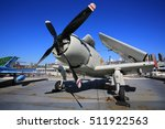 Small photo of NEW YORK;OCT13: Douglas A-1 Skyraider display in intrepid sea air space museum in New York on 13 October 2016. Interpid Sea AIr Space Museum showcases the aircraft carrier the former USS Intrepid