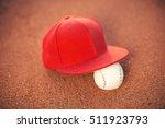 baseball ball and baseball cap... | Shutterstock . vector #511923793