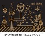 merry christmas golden outline...   Shutterstock .eps vector #511949773