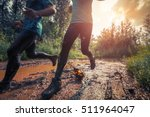 two trail running athletes... | Shutterstock . vector #511964047