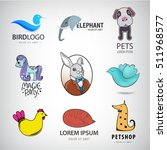 animal logo collection  bird ... | Shutterstock .eps vector #511968577