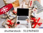 christmas online shopping top... | Shutterstock . vector #511969603