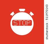 the stop stopwatch icon. clock...