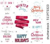 christmas typographic... | Shutterstock .eps vector #511973323