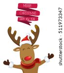 christmas greeting vector... | Shutterstock .eps vector #511973347