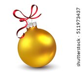 christmas ornament with red... | Shutterstock .eps vector #511973437