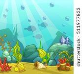 cartoon underwater vector... | Shutterstock .eps vector #511977823