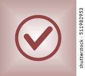 check  icon. flat design. | Shutterstock .eps vector #511982953