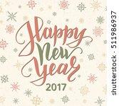 happy new year 2017 card. retro ... | Shutterstock .eps vector #511986937