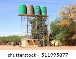 water storage tanks in the...