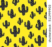 cactus. seamless pattern.... | Shutterstock .eps vector #511999903