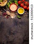 hummus ingredients. chickpea ... | Shutterstock . vector #512000413