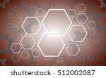 abstract hexagon and gears...   Shutterstock .eps vector #512002087