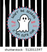 patch cartoon cute ghost  funny ... | Shutterstock .eps vector #512011597