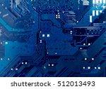 closeup electronic circuit... | Shutterstock . vector #512013493