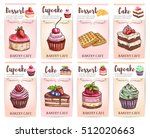 cafe  cafeteria  patisserie... | Shutterstock .eps vector #512020663
