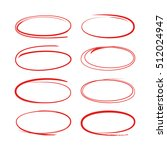 hand drawn circles for... | Shutterstock .eps vector #512024947