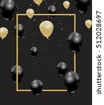 gold and black elegant vector... | Shutterstock .eps vector #512028697