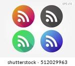 colored icon of wifi symbol...