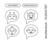 chatterbots linear icons set ...   Shutterstock .eps vector #512031787