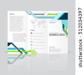 business templates for tri fold ... | Shutterstock .eps vector #512034397