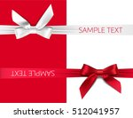 greeting card with red and... | Shutterstock .eps vector #512041957