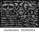 set of vector hand drawn... | Shutterstock .eps vector #512042923