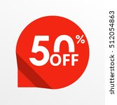 sale tag icon. 50 percent off.... | Shutterstock .eps vector #512054863