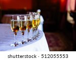 beautiful line of champagne... | Shutterstock . vector #512055553
