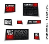 black friday sale badges and... | Shutterstock .eps vector #512059543