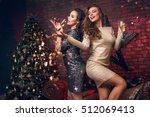 portrait of two smiling girl...   Shutterstock . vector #512069413