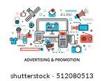 modern flat thin line design... | Shutterstock .eps vector #512080513