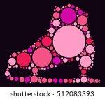 skate shape vector design by... | Shutterstock .eps vector #512083393