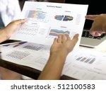 business graph information... | Shutterstock . vector #512100583