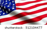 closeup of american usa flag ... | Shutterstock . vector #512104477