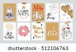 collection of 10 paper... | Shutterstock .eps vector #512106763