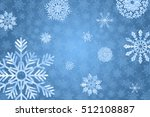 blue winter background with... | Shutterstock .eps vector #512108887