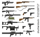 Big Flat Set Of Various Weapon...