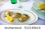 Small photo of Oyster aphrodisiac appetizer for lunch