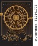 wheel of love wedding... | Shutterstock .eps vector #512141773