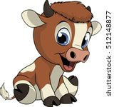 funny baby cow | Shutterstock .eps vector #512148877