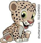 funny little leopard | Shutterstock .eps vector #512149003