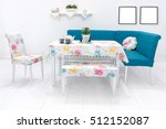 new dining table and... | Shutterstock . vector #512152087